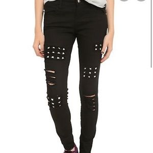 Royal Bones Ripped Skinny Jeans